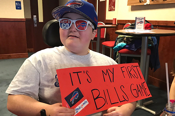 Nate's first Bills game!