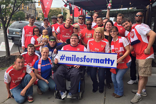 Buffalo Gooners fundraiser at Mes Que for Miles For Matty